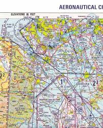 Aircraft Sectional Charts Aeronautical Map Pilot Training Personal Helicopter
