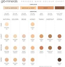 Glo Minerals Colour Chart How To Know Your Skins Undertone When Choosing Foundation