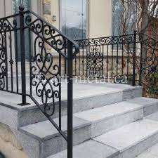We understand the statement that wrought iron railings can make within a residence or commercial building, and we believe that every elegant staircase deserves a custom, hand forged handrail system. Exterior Metal Stair Railing For Safety And The Look Of Your Home