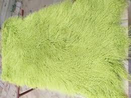 lime green rugs lovely 2018 genuine light green real mongolian fur rug curly plate tibetan photograph
