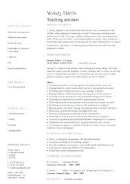 Example Teaching Resumes Teacher Resume Objective School Teacher