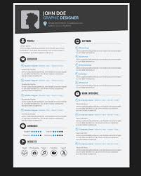 creative design resumes graphic designer resume cv vector download