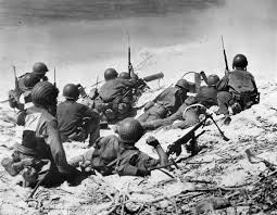 Marine Gunners Marine Machine Gunners In Action On Eniwetok World War Photos