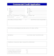 application for credit account template customer credit application form template business credit
