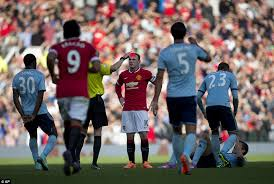 Head to head statistics and prediction, goals, past matches, actual form for fa cup. Manchester United 2 1 West Ham Wayne Rooney Sent Off For Wild Kick At Stewart Downing But Reds Hold On For Much Needed Victory Daily Mail Online