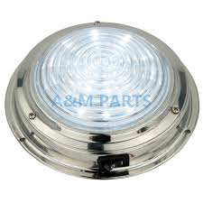 Us 28 42 25 Off 12v Stainless Steel Led Dome Light Boat Marine Rv Cabin Ceiling Lamp 5 5