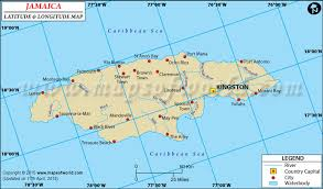 Aruba location on the caribbean map. Jamaica Latitude And Longitude Map