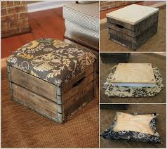 wooden crates furniture. make an ottoman by adding a cushioned seat to the crate wooden crates furniture