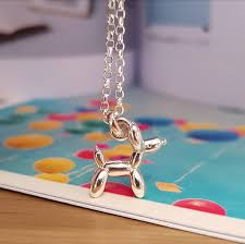 doodle the balloon poodle sterling silver necklace