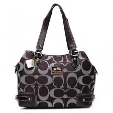 Coach Hamptons In Printed Signature Large Coffee Totes ANK