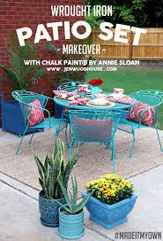 painted metal patio furniture. How To Paint Wrought Iron Patio Furniture With Chalk Paint® By Annie Sloan Painted Metal A