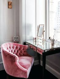 velvet office chair tufted pink uk