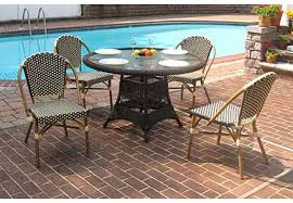 resin wicker cafe dining set 48 round