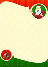 Christmas Letterhead Template Free Christmas Letterhead Free Stationery For Christmas With