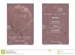Print Save The Date Cards Save The Date Beautiful Vintage Invitation With Golden Floral Print