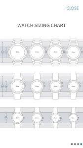 Watch Size Chart Watch Size Chart Bracelet Watch Mesh Bracelet Stainless