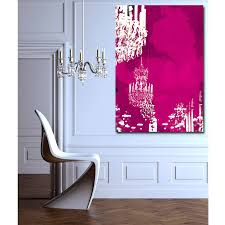 chandelier print on wrapped canvas paint splatter