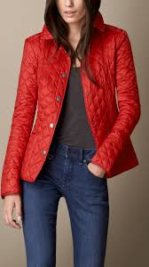 Burberry Diamond Quilted Jacket in Red | Lyst & Gallery. Women's Quilted Jackets Adamdwight.com