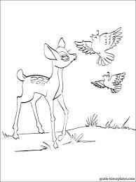 Kleurplaat Met Bambi Met Een Patrijzen Gratis Kleurplaten