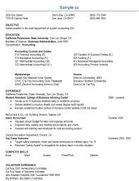 Resume Sample For Accounting Jobs Free Sample Accounts Resume Example