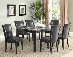 marble dinette set 7 piece faux marble dining set in deep cappuccino finish marble dinette set