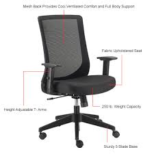 Fabric office chairs with arms Desk Chair Have Question About This Product Global Industrial Chairs Mesh Basic Mesh Back Office Chair Fabric Black