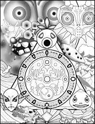 Legend Of Zelda Majoras Mask Coloring Book Page Imgur