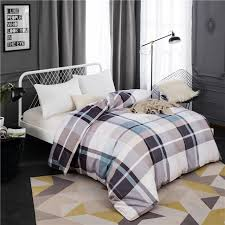 authentic modern brife style cotton duvet cover twin full queen king size comforter cover with