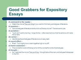 introducing the hand how to organize an essay for the sol test  8 good grabbers for expository essays