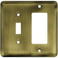 Double Light Switch With Outlet Cover Switch Plates Outlet Covers Brick Model 1 Double Light