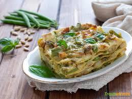 Lasagne al pesto con fagiolini e patate - Ricetta