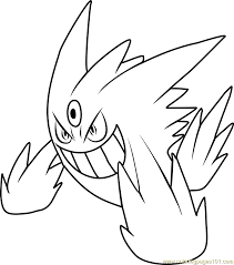 Small Picture Mega Gengar Pokemon Coloring Page Free Pokmon Coloring Pages