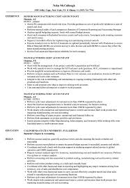 Manufacturing Cost Accountant Resume Samples Velvet Jobs