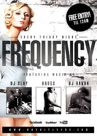 Flyers Psd Flyer Template Club Fridays Royal Frequency