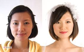 asian wedding makeup artist sf before and after