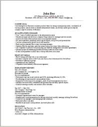 Executive Assistant Resume Sample Occupational Examples Samples