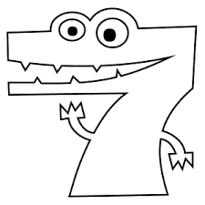 Small Picture Number 7 Coloring Page