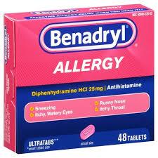 Benadryl® Ultratabs Allergy Relief Tablets - Diphenhydramine HCL ...