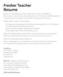 Examples Of Education Resumes Resume Format Of Teacher Putasgae Info
