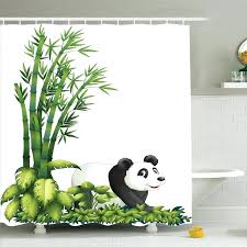 bamboo shower curtains cute panda bear bamboo shower curtain set bamboo shower curtain rail