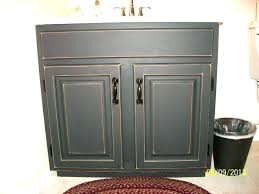 oak cabinets painted black painting a bathroom vanity white distressed kitchen black chalk paint oak cabinets