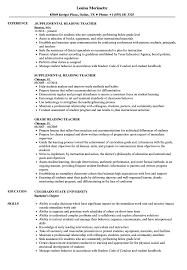 Reading Teacher Resume Free Resume Templates 2018