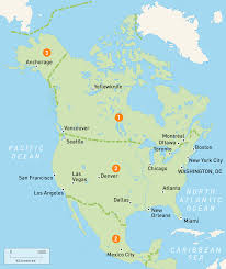 map of north america  north america countries  rough guides