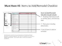Kitchen Remodel Checklist Kitchen Remodel Schedule Template Renovation Schedule Template Excel