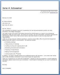 Personal Assistant Cover Letter Sample Creative Resume Design