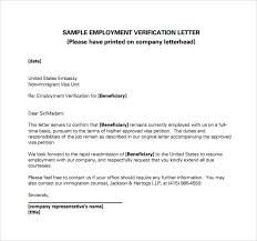 Employment Verification Letter Template Word Employment Verification