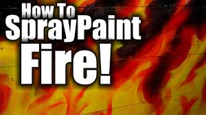 How to spray paint fire and flames - HD - realistic flames - YouTube