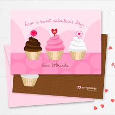 A Sweet Cupcake For Kids Valentines Cards