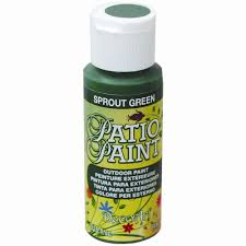 patio sprout green acrylic paint