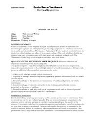 Example Resume Janitorial Sample In For Building Maintenance